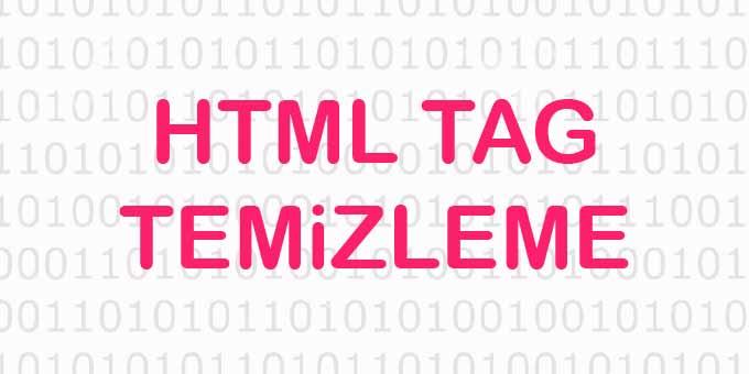 Online HTML Tag Temizleme