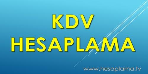 KDV Hesaplama