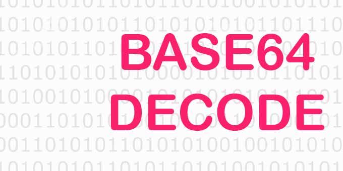 Online base64 kodu çzöme (Base64 Decode)