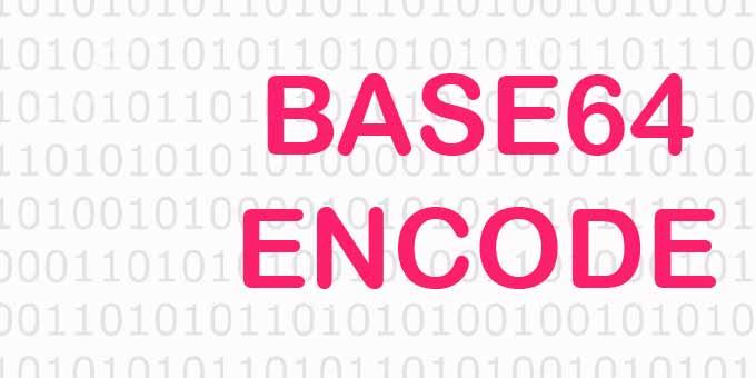Online base64 kodlama