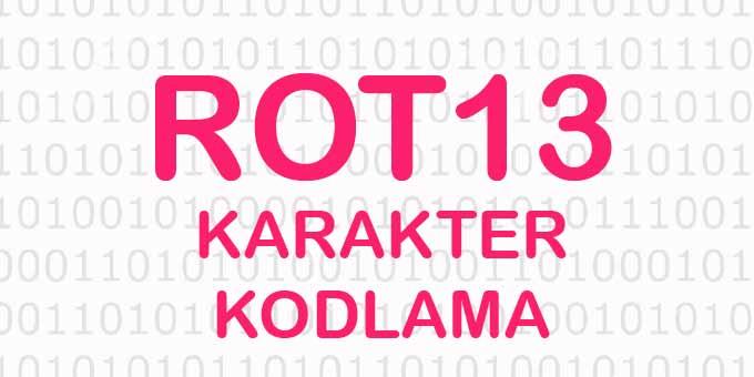 Online ROT13 Kodu Oluşturma