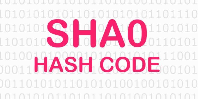 Online SHA0 Hash Kodu Oluşturma